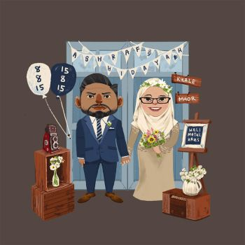 My Wedding Invitation Illustration by nimbusnymbus