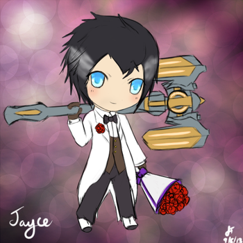 League of Legends Debonair Jayce Chibi by TheMuteMagician