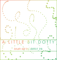 Dotty Brushes by district_ink by districtink