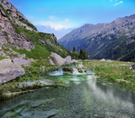 Mountain Stream - Premade BG by Emerald-Depths