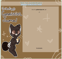 :: Journal Skin for Goldentiqers :: by Furrystatic