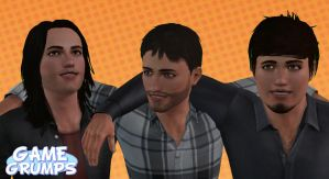 The Sims 3: Game Grumps - Arin, Jon, and Barry by Tx-Slade-xT