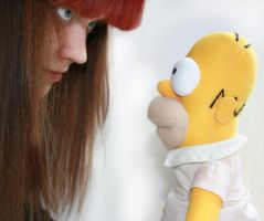 me vs homer by EphemeralMind