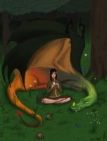 Dragon and Elf Redoo by PackRatTheArtist