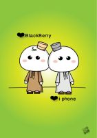 Bb and i phone lovers 2 by SaraALMukhaini