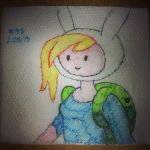 Napkin Art 138 - Fionna the Human - Adventure Time by PeterParkerPA