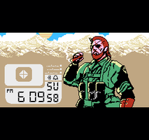 MGSV Phantom Pain Cigar 8-Bit by TheSoulless