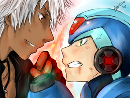 Megaman y K DASH by Misao02