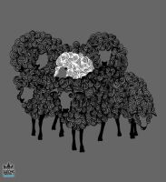 White Sheep design by cosmicsoda