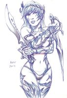 WITCHBLADE by Mightyfox-Rixou