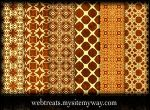 Ornate Grungy Golden Patterns by WebTreatsETC