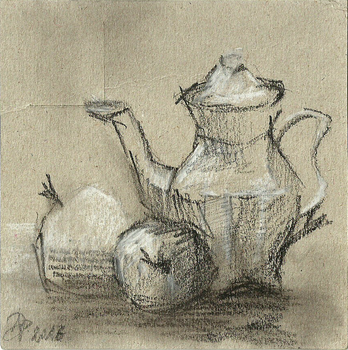 Still life watercolor - pencil sketch by TheAjsAx