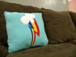 RainbowDash Pillow Large by CynicalSniper