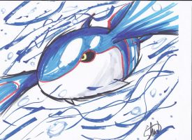 Copic Kyogre by StamayoStudio