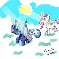 Celestia and Luna by Camaine