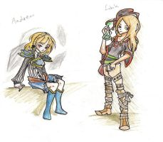 CE: Andrea and Livia by Xilent-Knights