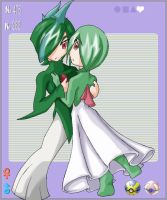 Gardevoir Gallade Gijinka by Asteban