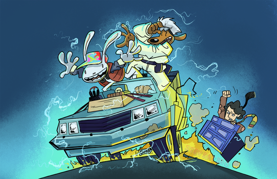 Sam and Max Freelance Time Police by StevenRayBrown