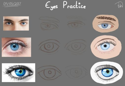 Eyes Practice by Elixir5612
