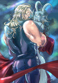 thor/jotunloki by shinma648