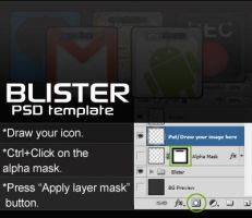 Android Blister Icon Template by mhut
