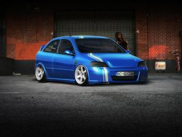 opel astra opc stance by justfear