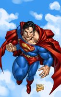 Superman in colour by edtadeo
