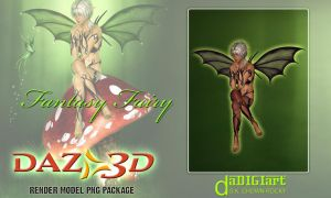 3d fantasy fairy Model by SK-DIGIART