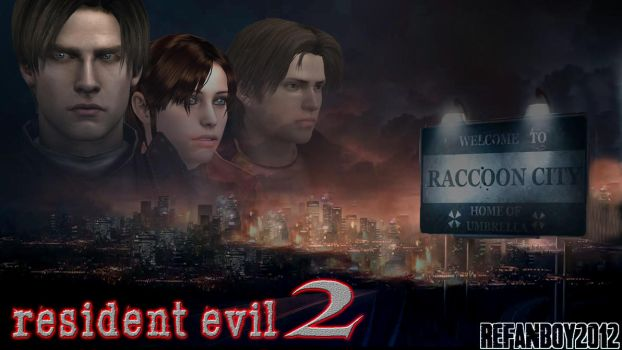 Resident Evil 2 Poster/Cover Art (UPDATED) by REFanBoy2012