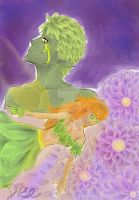 ::fairy and Dryad:: by Ace093