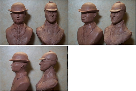 Holmes and Watson (Bookends still WIP) by Cleaverroot