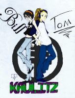 Flat colors 15yrs Bill und Tom Kaulitz by rainrivermusic