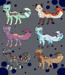 Cat Adopts :: 3/6 Open by Mythic-Flame