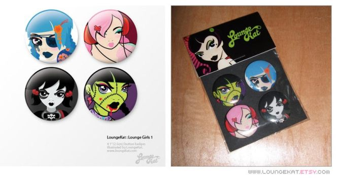 LK 1' Button Badges by lounge-acting
