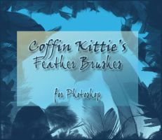 Feather Brushes For Photoshop by coffinkittie