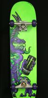 monster skateboard by FatCatDesigns