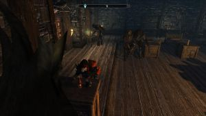 Never Turn Your Back on A Drunken Argonian, Liz by TheYUO