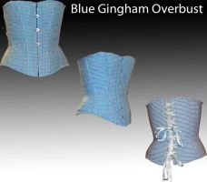 Blue Gingham Overbust-Official by chasingrainbows