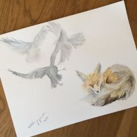 Fox and Crow by findelka