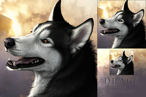 icon commission for Drago by DarkIceWolf