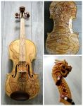 Golden dragon violin II by Hollow-Moon-Art