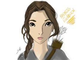 Katniss Everdeen - Manga Form by spenzbowart