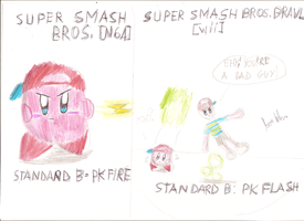 Ness Kirby:differences from SSB to SSBB by brownkirbyfun