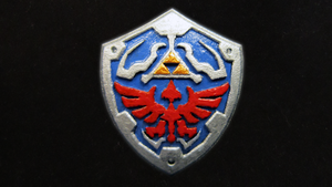 Painted LEGO Hylian Shield by mingles
