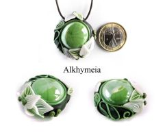 Dew Drop in Green 4 by Alkhymeia