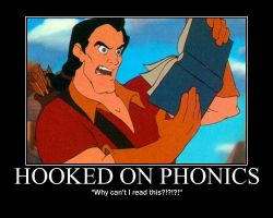 Gaston Reads Hooked On Phonics by LivingShadowDarkMark