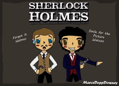 Holmes and Watson by Marcewentzurie