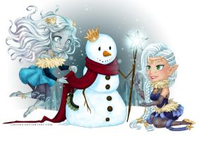 commission How to build a snowlady by Chyana
