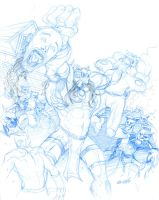 Astounding Wolfman 25  pencils by Forty-Nine