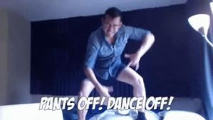 PANTS OFF! DANCE OFF! gif by akshox